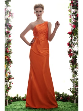 A-line Floor-Length One-Shoulder Yana's Bridesmaid Dress