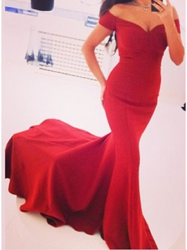 Sexy Off the Shoulder Mermaid Evening Dress
