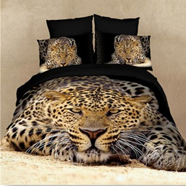 High Quality Strong and Smart King in the Jungle 4 Pieces Bedding Sets