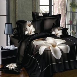 Cool Blooms of Lonely Water Lily 4Piece 100% Cotton Bedding Sets