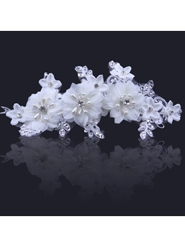 Ladylike Flower High-Grade Manual Bridal Headpiece With Pearl