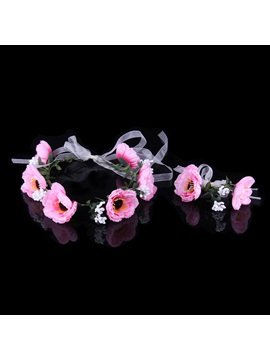 Cloth Art Flower High-Grade Manual Seaside Bridal Garland