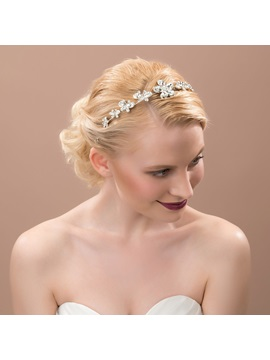 Floral Rhinestone Alloy Wedding Headband