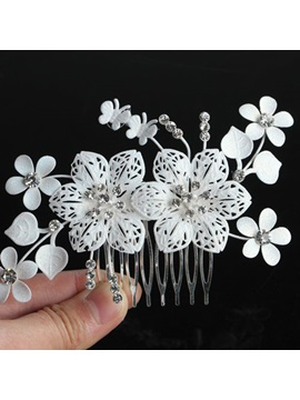 Elegant White Flower Wedding Comb Floral Wedding Headpiece