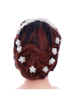 Pearl Flower-Shaped Hairpins
