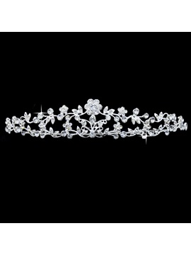 Fantastic Flower Rhinestone Wedding Bridal Tiara