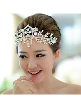 Charming Rhinestone and Alloy Wedding Tiara