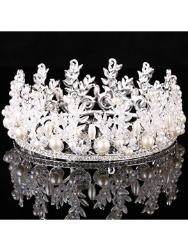 Shining Rhinestones Pearl Alloy Wedding Tiara