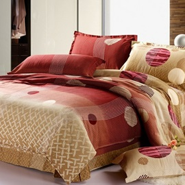 Natural Style 4 Cotton Peaceful Queen Or King Size Mattress Cover