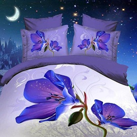 Flower Printed 4-Piece Bedding Sets