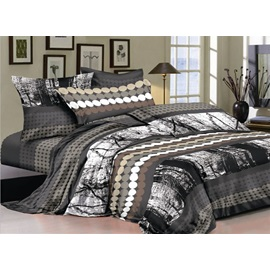 Shabby Chic with Circles 4 Piece Cotton Bedding Sets Of Princess