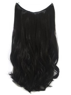 Natural Black #1 Wavy 100% Human Hair Flip In Hair Extension