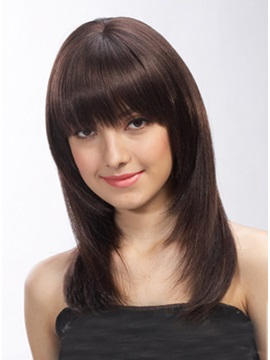Classical Long Straight Synthetic Hair Wig 14 Inches