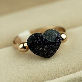 New Popular All-matched Heart Shaped Women's Cocktail Ring