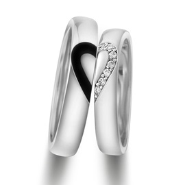Match Heart 925 Sterling Silver Lover's Rings(Price For A Pair)