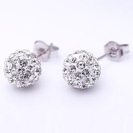 Superb Full Diamond Round Lady's Earrings