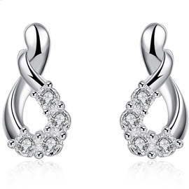 High Quality Zircon Inlaid Women Earrings