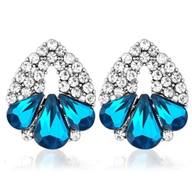 Wonderful Crystal Stud Earrings