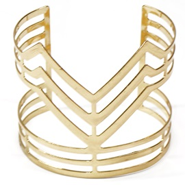 Golden Plated V-Shaped Design Bracelet