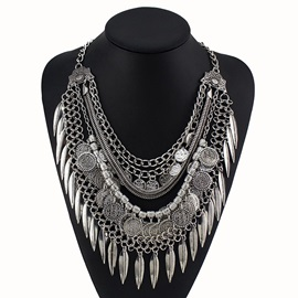 Vintage Style Tassels Alloy Necklace