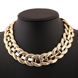 European Style Short Metal Necklace