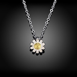 Little Daisy Pendant 925 Silver Necklace