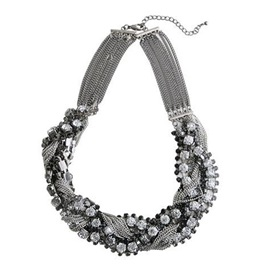 Exquisite Bead Chain Alloy Women's Necklace