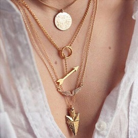 Cool Selling European Style Angel Wings with Arrow Necklace Set