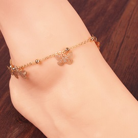 New Golden Butterfly Shaped Alloy Anklet