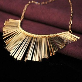 Handsome Alloy Tassels Necklace