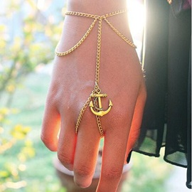 Anchor Shape Decorated Women Bracelet