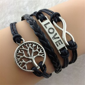 Infinity & Tree Decorated Vintage Bracelet
