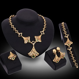 Vintage Style Diamond Women Jewelry Set