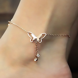 Butterfly Shape E-plating Women Anklet