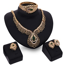 Hot Sale Fashion Hollow Women Jewelry Set