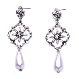 European Style Pearl Pendant Women Earrings