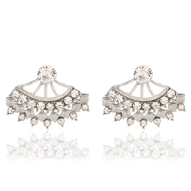 Alloy Fan Shaped Women Stud Earrings