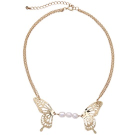 Wonderful Pearls and Butterfly Women Necklace