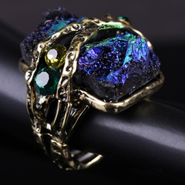 Gorgeous Natural Colorful Stones Ring