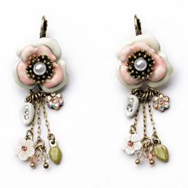 Beautiful Alloy Flower Women Earrings