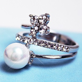 Sparking Pearl Zircon Ring