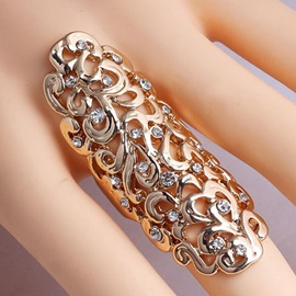 Personality Alloy Hollow-Out Carved Ring