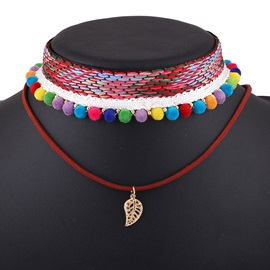 Bohemian Colorful Rope Woven Necklace