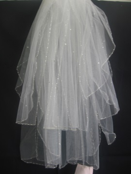 Fabulous Children Veils with Pearl Trim Edge