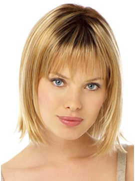 Soft Charming Popular Medium Wig 100% Human Hair about 10 Inches