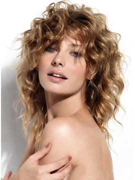 Super Sexy Wavy Wig 100% Human Hair about 14inches