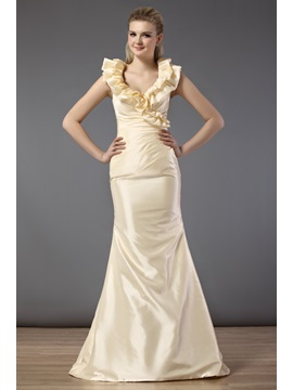 Charming Cascading Ruffles Trumpet Floor-length Bridesmaid Dress & Bridesmaid Dresses for less