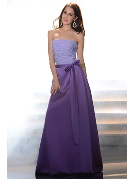 Pretty A-Line Strapless Ruched Sashes/Ribbons Floor-length Bridesmaid Dress & unusual Bridesmaid Dresses