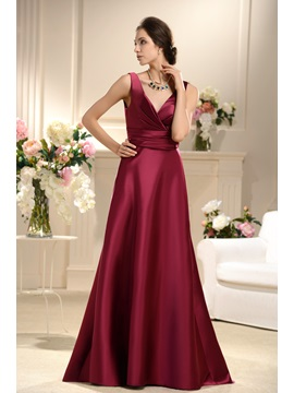 Remarkable Ruffles A-Line Floor-Length fashion Bridesmaid Dresses