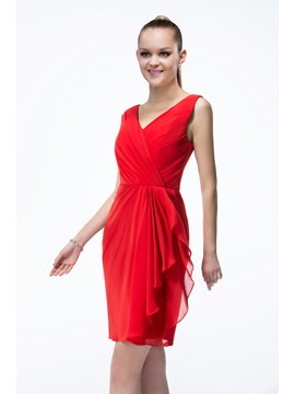 Excellent Short V-Neck Sleeveless Zipper-up Bridesmaid Dress & Bridesmaid Dresses on sale